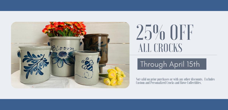$25 Candle Crock Sale