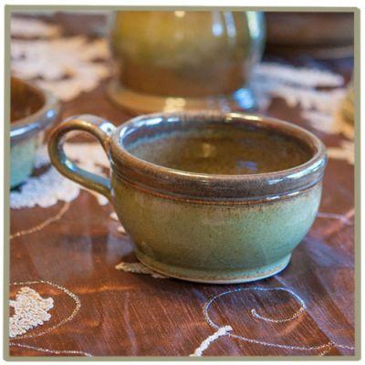 Sandstone Soup Bowl- Woodland Sage