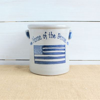 1 Gallon Crock - LIMITED EDITION Flag Pattern