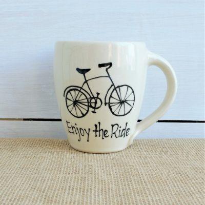 NEW Modern Enjoy the Ride Mug