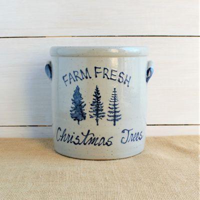 1 Gallon Crock - Christmas Tree Farm
