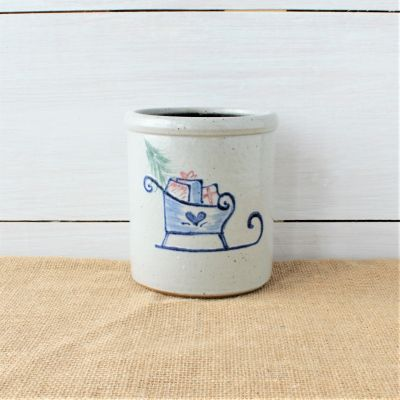 1 Quart Crock- Personalized (4 Holiday Patterns)
