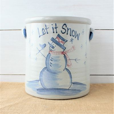 2 Gallon Crock- Personalized (4 Holiday Patterns)