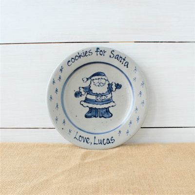 "Personalized ""Cookies for Santa"" Plate"