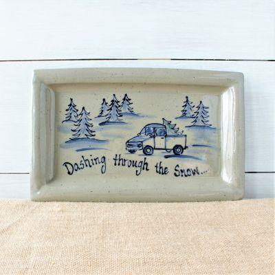 Holiday Platter- Dashing through the Snow