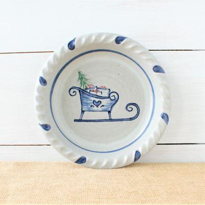 Classic Pie Plate- Sleigh Ride