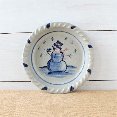 Classic Pie Plate- Snowman