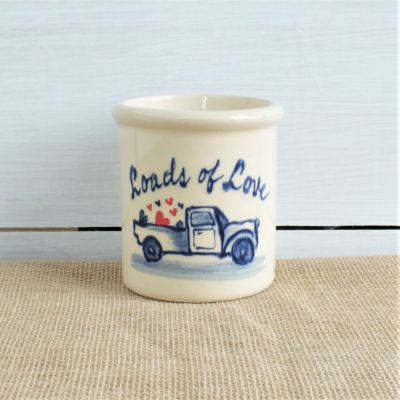 NEW Modern Candle Crock - Loads of Love