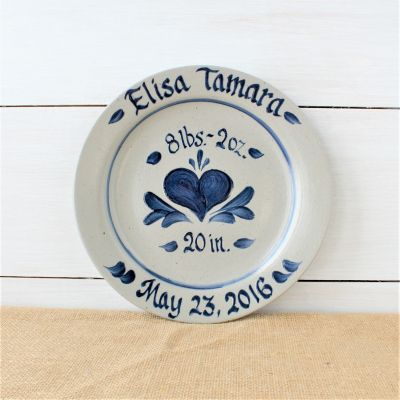 "11"" Plate- Personalized (5 Patterns Available)"