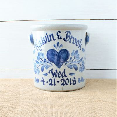 2 Gallon Crock- Personalized Wedding Pattern