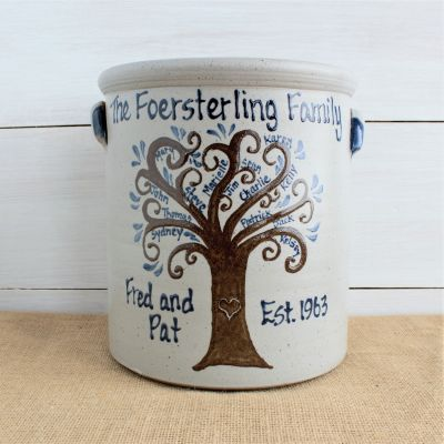 2 Gallon Crock- Personalized Family Tree