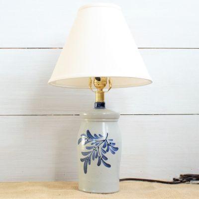 Teaberry Preserve Jar Lamp