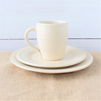 Farmhouse Ridges White Place Setting