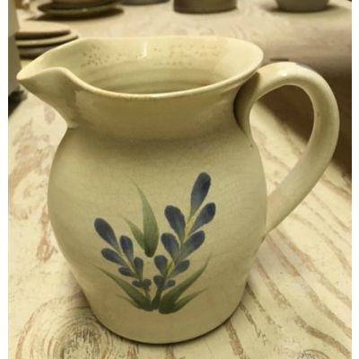 """Rowe Find"" Kily Collection Sauce Pitcher White Floral"