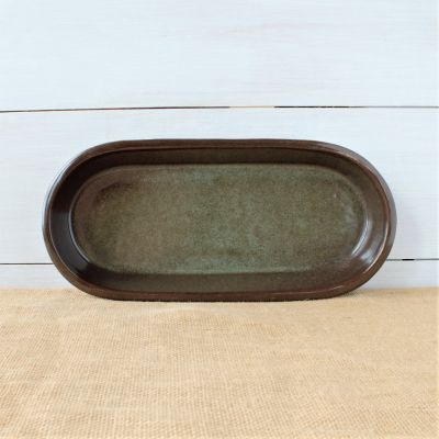 Sandstone Large Oval Baker- Cerulean Blue