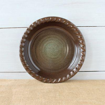 Sandstone Pie Plate - Cerulean Blue