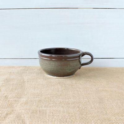 Sandstone Soup Bowl- Cerulean Blue