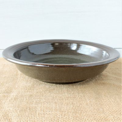 "Sandstone 12"" Serving Bowl- Cerulean Blue"