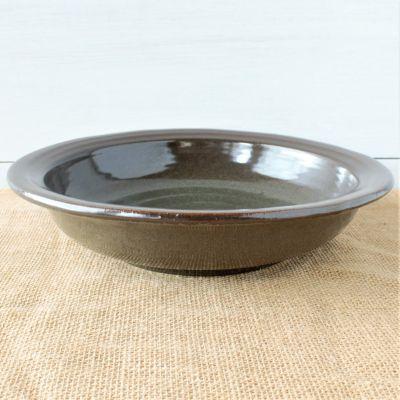 """Sandstone 12"""" Serving Bowl- Cerulean Blue"""