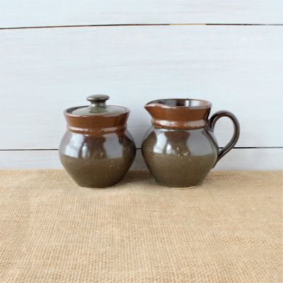 Sandstone Sugar Pot - Cerulean Blue