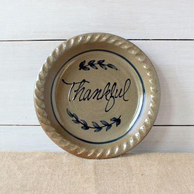 Pie Plate- Thankful