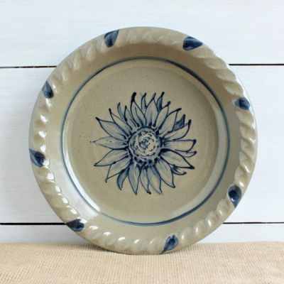 Fall Pie Plate - NEW Sunflower