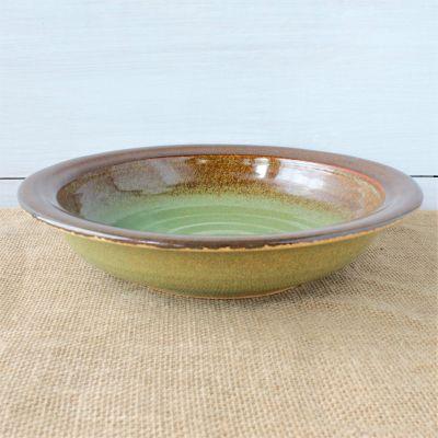 """Sandstone 12"""" Serving Bowl- Woodland Sage"""