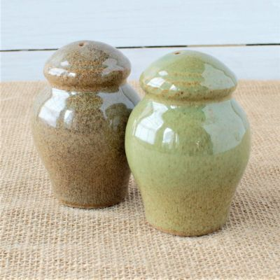 Sandstone Salt & Pepper Pair- Woodland Sage