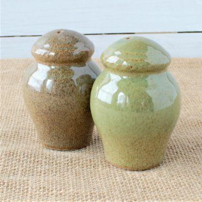 Sandstone Salt & Pepper Pair- Woodland Sage