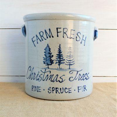 2 Gallon Crock - Christmas Tree Farm