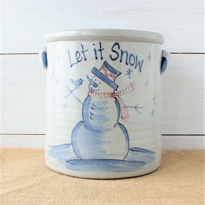Classic 2 Gallon Crock - Snowman