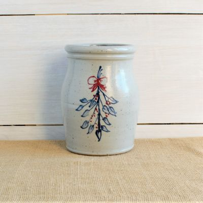 Holiday Utensil Jar - Personalized (4 Holiday Patterns)