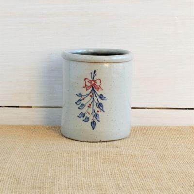 Mistletoe Candle Crock