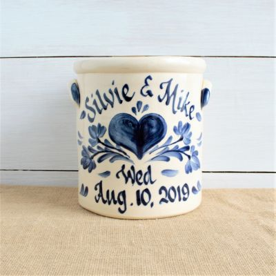 Modern Stoneware 2 Gallon - Personalized (Multiple Patterns Available)