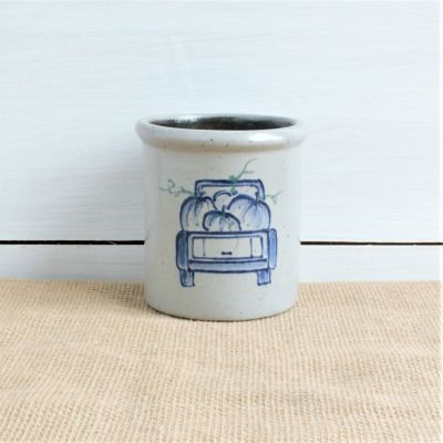 Fall Candle Crock - NEW Off to the Orchard