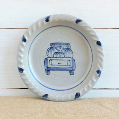 Fall Pie Plate - NEW Off to the Orchard
