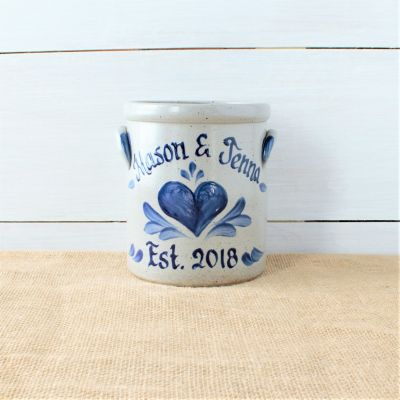 1/2 Gallon Crock- Personalized (Multiple Patterns Available)