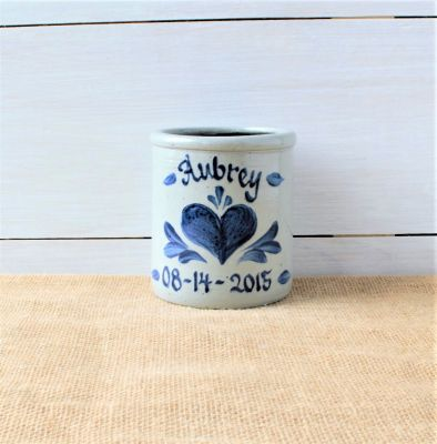 1 Quart Crock- Personalized (5 Patterns Available)