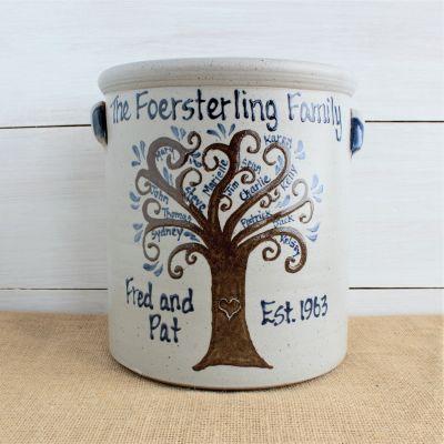2 Gallon Crock- Personalized Family Tree