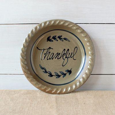 Pie Plate- Thankful