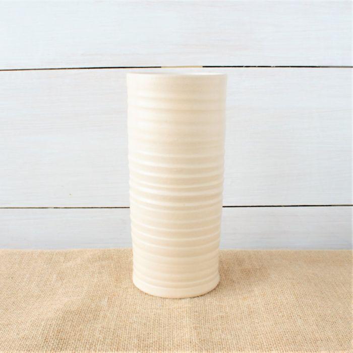 Farmhouse Ridges Tall Cylinder Vase 4 Colors